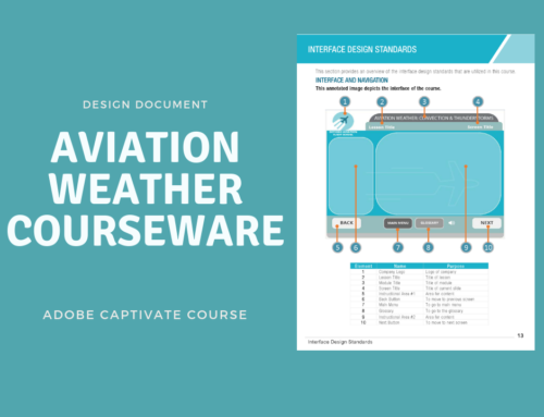 Design Document for Aviation Weather Course Module