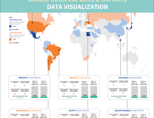 World's Corn Exports/Imports Data Visualization