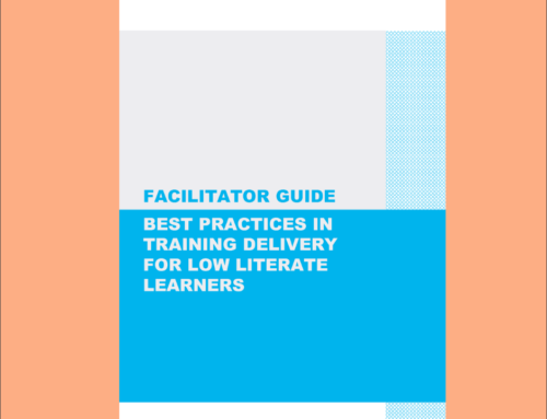Facilitator Guide – Best Practices in Training Delivery for Low Literate Learners